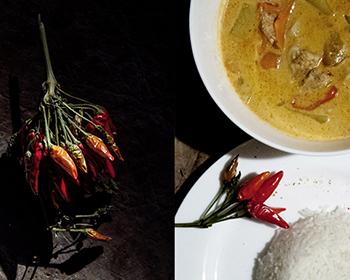Bild von Curry mit Chili